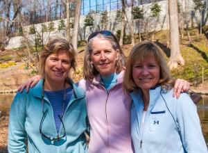 Conservancy Board Members Denise Schlener, Susan Lynner & Bonnie LePard at Tregaron's 2013 Easter Egg Hunt (photo by Michael Mitchell)