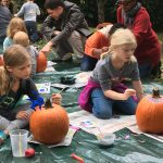 Pumpkin painting at Tregaron